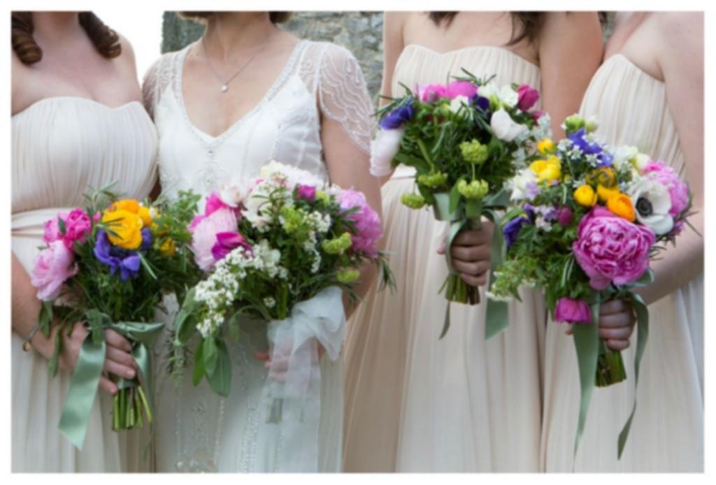 bridemaids tuscan wedding