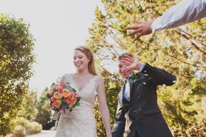 romantic wedding in Tuscany - the newly wed