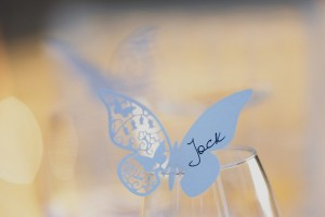 romantic wedding in Tuscany - groom place cards