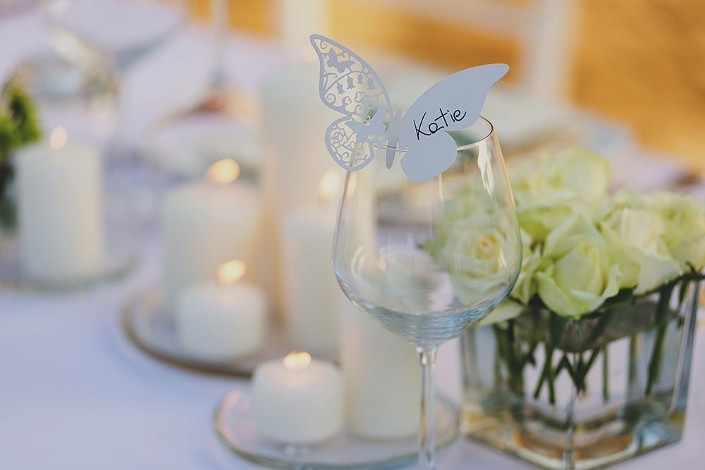 romantic wedding in Tuscany - place cards
