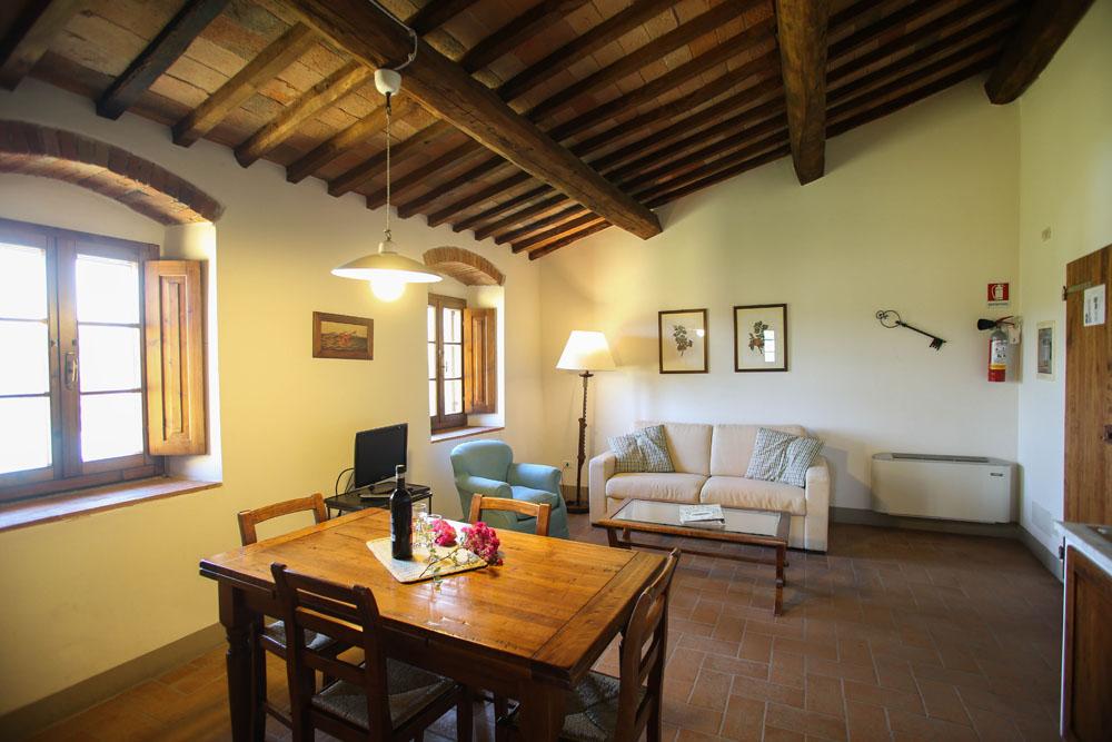 Villa Casina's sitting room: romantic and intimate